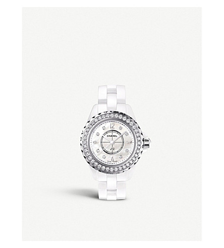 CHANEL H2572 J12 29mm Diamonds high-tech ceramic, mother-of-pearl and diamond watch