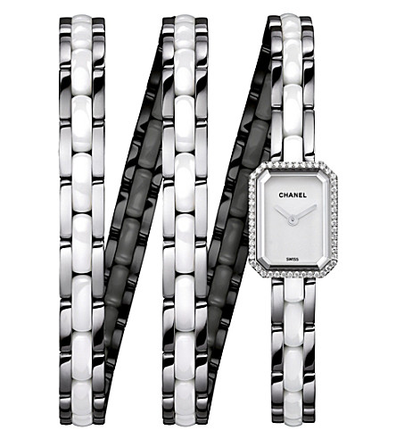 CHANEL H3059 Première Triple Row Ceramic steel and diamond watch