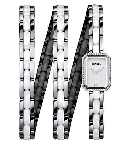 CHANEL H3059 Première Triple Row Ceramic steel and diamond watch