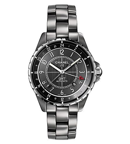 CHANEL H3099 J12 41mm Chromatic GMT titanium and high-tech ceramic watch