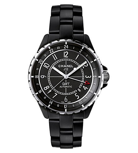 CHANEL H3101 J12 41mm Matte Black GMT steel and high-tech ceramic watch