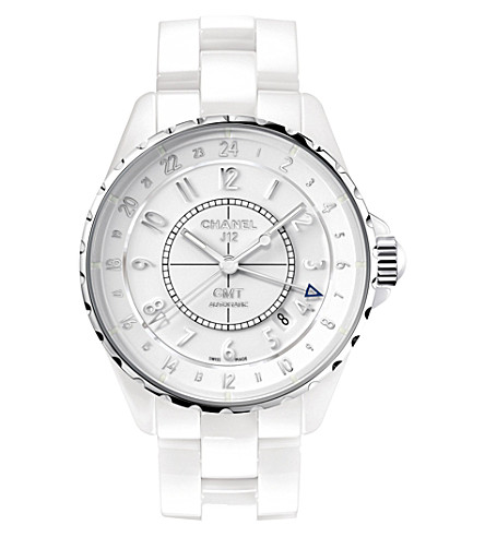 CHANEL H3103 J12 38mm GMT steel and high-tech ceramic watch