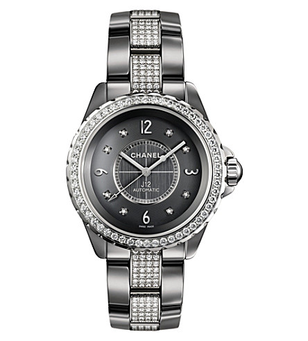 CHANEL H3106 J12 38mm Chromatic Diamonds titanium, high-tech ceramic and diamond watch
