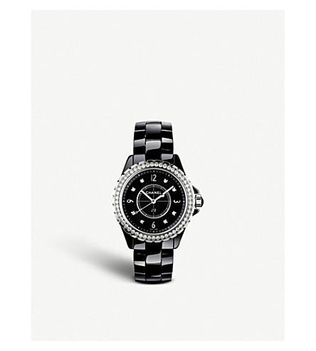CHANEL H3108 J12 33mm 钻石高科技陶瓷, 钢铁和钻石手表