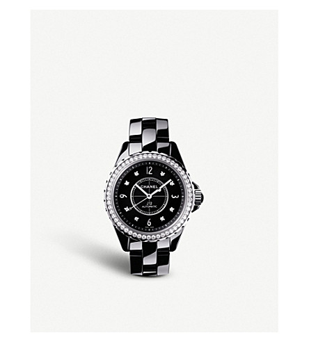 CHANEL H3109 J12 38mm Diamonds high-tech ceramic, steel and diamond watch
