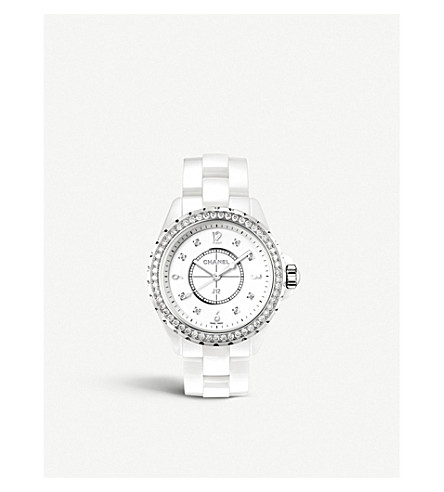 CHANEL H3110 J12 33mm Diamonds high-tech ceramic, steel and diamond watch