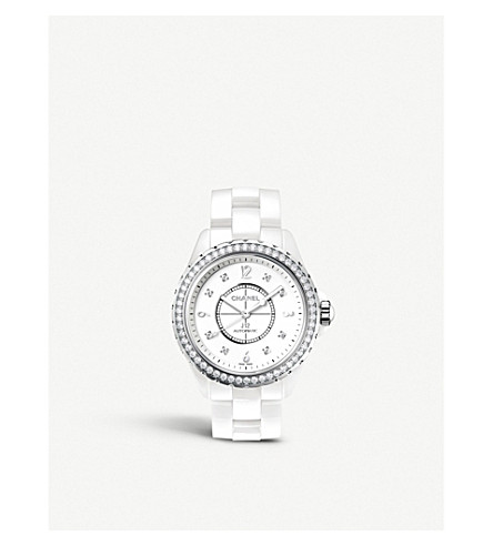 CHANEL H3111 J12 33mm Diamonds high-tech ceramic, steel and diamond watch