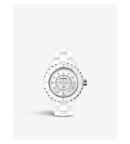 CHANEL H3214 J12 38mm mother-of-pearl and Diamond Dial watch