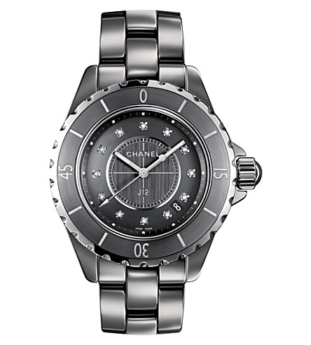 CHANEL H3241 J12 33mm Chromatic Diamond Dial titanium, high-tech ceramic and diamond watch