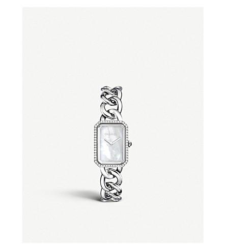 CHANEL H3255 十万火急链钢, 珍珠母和金刚石手表