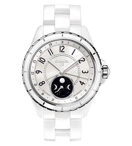 CHANEL H3404 J12 38mm Moonphase high-tech ceramic and steel watch