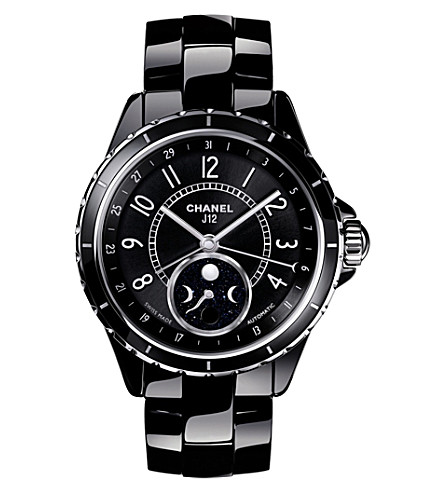 CHANEL H3406 J12 38mm Moonphase high-tech ceramic and steel watch