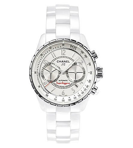 CHANEL H3410 J12 41mm Superleggera Chronograph high-tech ceramic and steel watch