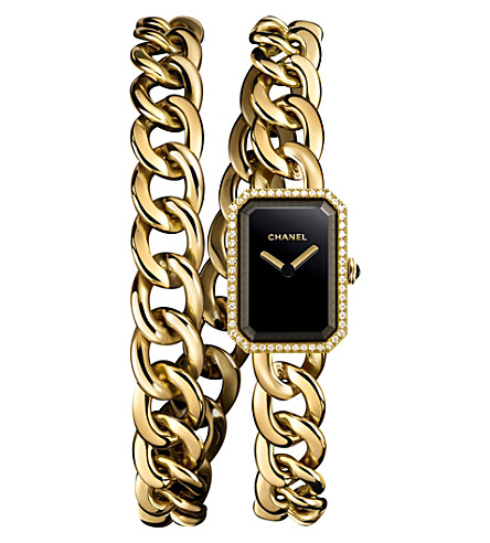 CHANEL H3750 Première Double Row Chain 18-carat gold and diamond watch