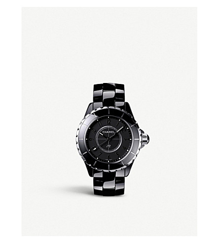 CHANEL H3828 J12 33mm Intense Black high-tech ceramic and steel watch