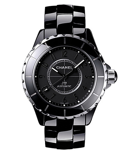 CHANEL H3829 J12 38mm Intense Black high-tech ceramic and steel watch