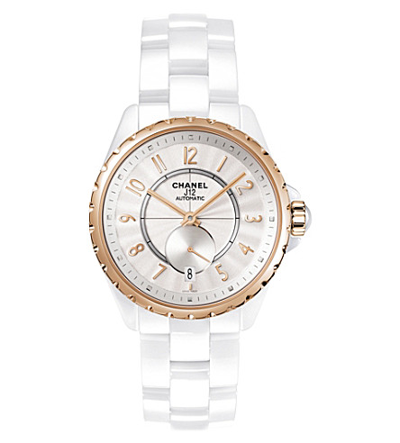 CHANEL H3839 J12 36.5mm 365 18ct beige-gold and high-tech ceramic watch