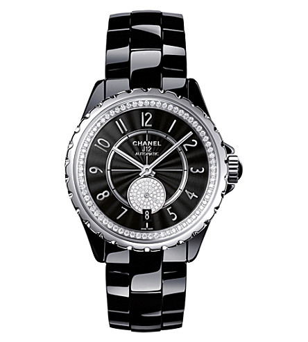 CHANEL H3840 J12 36.5mm 365 high-tech ceramic, steel and diamond watch