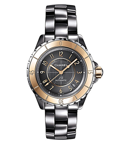CHANEL H4185 J12 38mm Chromatic 18ct beige-gold, steel and titanium high-tech ceramic watch