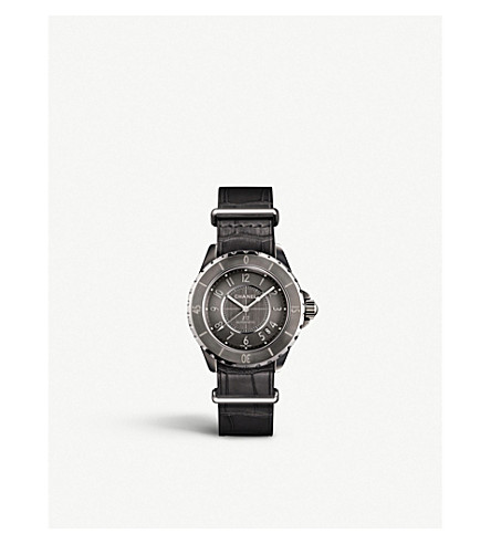 CHANEL H4187 J12 38mm G10 Titanium high-tech ceramic and steel watch