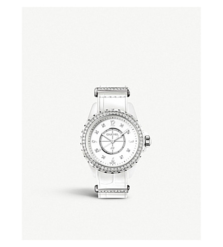 CHANEL H4190 J12 33mm G10 high-tech ceramic, steel and diamond watch