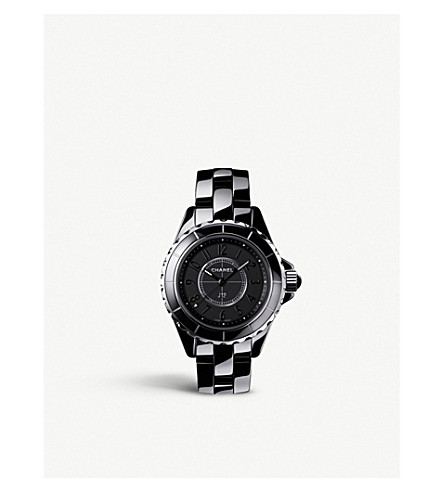 CHANEL H4196 J12 29mm Intense Black high-tech ceramic and steel watch