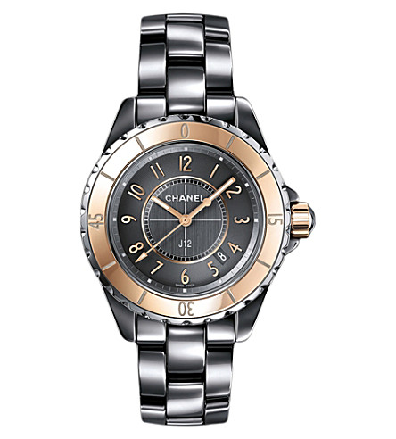 CHANEL H4197 J12 33mm Chromatic 18ct beige-gold, steel and titanium high-tech ceramic watch