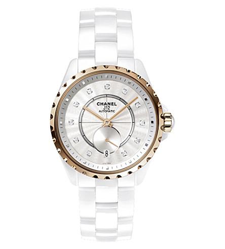CHANEL H4359 J12 36.5mm 365 18ct beige-gold, high-tech ceramic and diamond watch