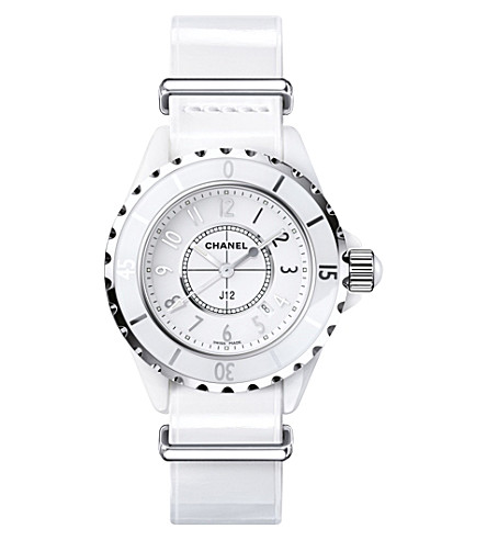 CHANEL H4656 J12 33mm G10 Gloss high-tech ceramic and steel watch