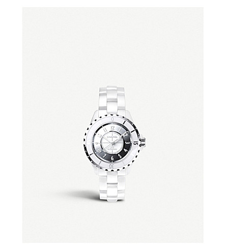 CHANEL H4861 J12 33mm Mirror ceramic and steel watch