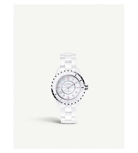 CHANEL H4864 J12 38mm Pink Light high-tech ceramic and steel watch