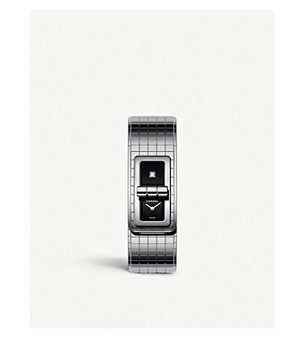 CHANEL H5144 Code Coco steel and diamond watch (Steel