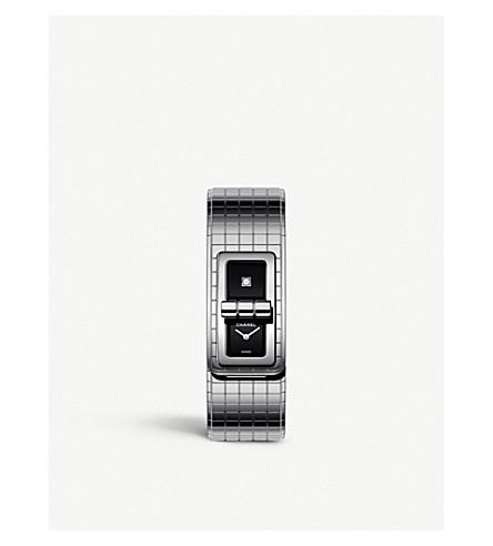 CHANEL H5144 代码可可钢和金刚石手表 (钢
