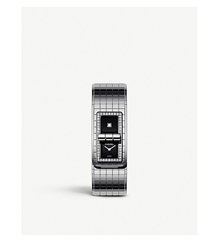 CHANEL H5145 Code Coco steel and diamond watch (Steel