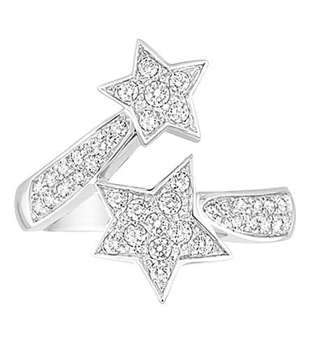 CHANEL Comète 18K 白金和钻石戒指