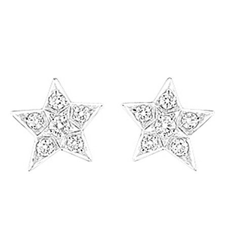 CHANEL Comète 18K white gold and diamond earrings. Medium version