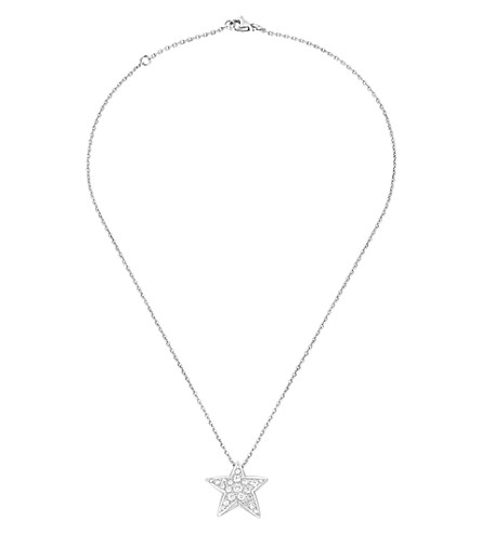 CHANEL Comète 18K white gold and diamond pendant. Large version