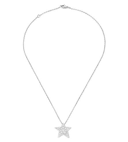 CHANEL Comète 18K 白金和钻石吊坠。Large version