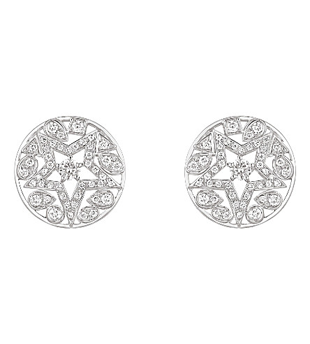 CHANEL Comète 18K white gold and diamond earrings