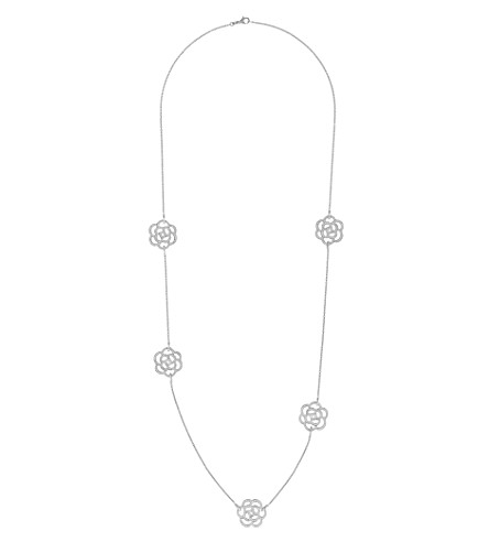 CHANEL Camélia 18K white gold and diamond necklace