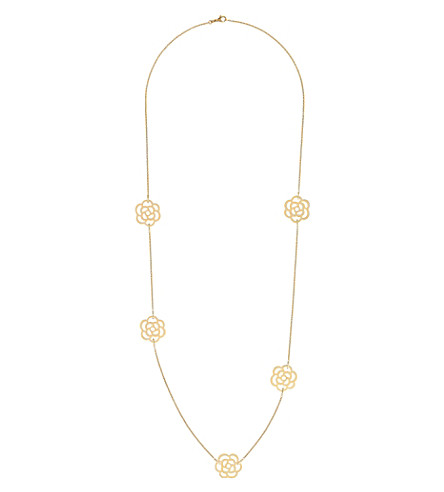 CHANEL Camélia 18K yellow gold necklace