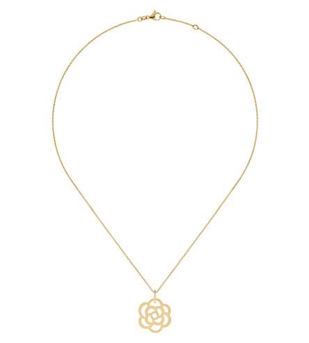 CHANEL Camélia 18K yellow gold pendant