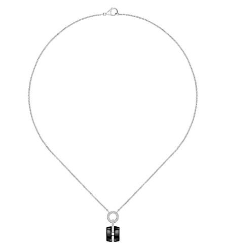 CHANEL Ultra 18K white gold, black ceramic and diamond pendant