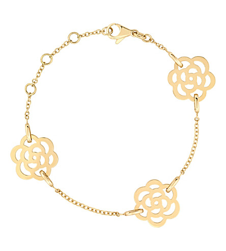 CHANEL Camélia 18K yellow gold bracelet