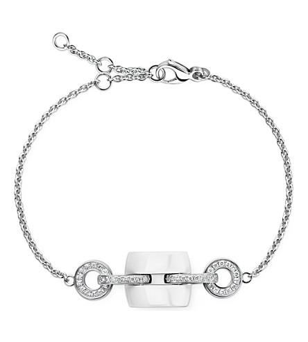 CHANEL Ultra 18K white gold, ceramic and diamond bracelet