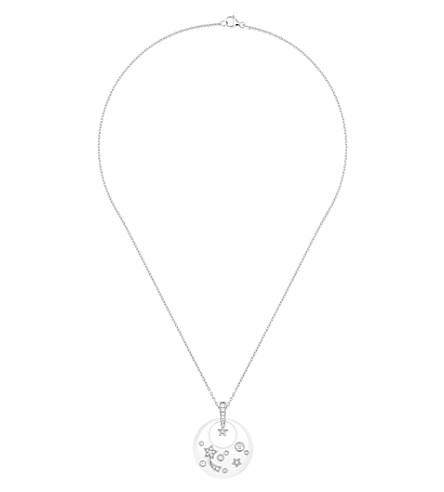 CHANEL Cosmique de Chanel 18K white gold, white ceramic and diamond pendant