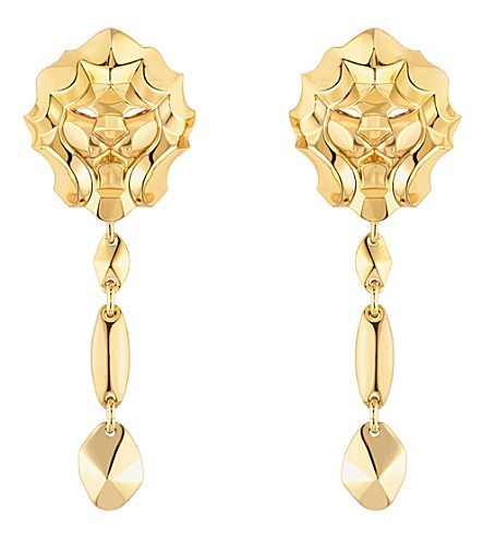 CHANEL Lion 18K yellow gold earrings