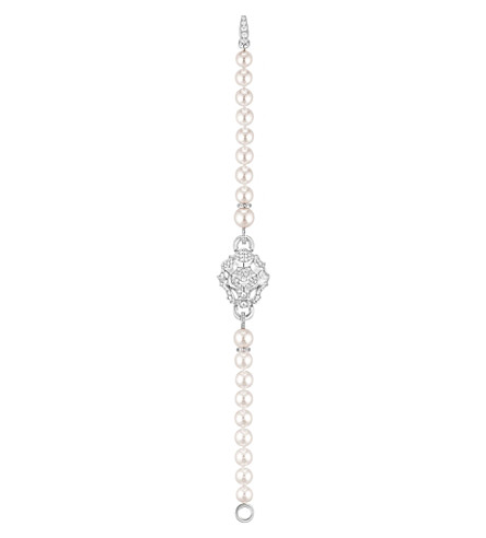 CHANEL Lion 18K white gold, diamond and cultured pearl bracelet