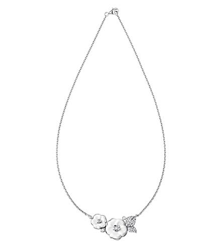 CHANEL Camélia Galbé Bouquet 18K white gold and diamond necklace