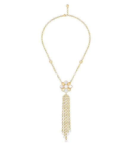 CHANEL Perles Chaînes 18K yellow gold, cultured pearl, mother of pearl and diamond necklace
